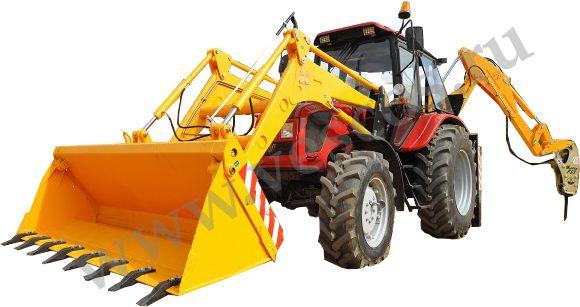 ЭО-2626 экскаватор-погрузчик челюстной на базе трактора.