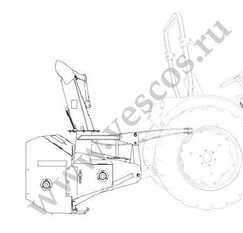 Отвал поворотный НТУ-10 Бабочка на трактор МТЗ